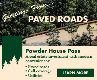 Paved roads display ad.